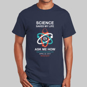 Science Saved My Life - light on dark - Gildan T-Shirt